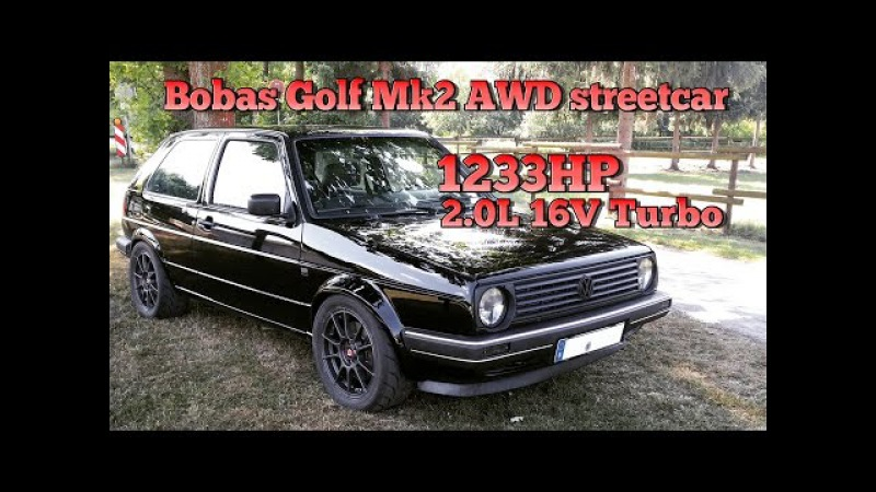 Brutal Golf Mk2 1233HP 16V Turbo Acceleration from Boba Motoring FULL VIDEO 2015