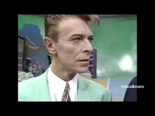 追悼【デビット・ボウイ 1992年来日】お笑い番組に出演 プッツン5