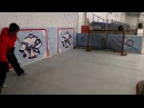 Тренировка бросков по хоккею на сухом льду 2016