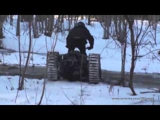 Самодельный снегоход на гусеничном ходу