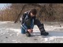 Ловля окуня и плотвы на зимнем пруду. О рыбалке всерьёз видео 281.