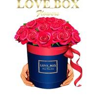 Цветы в коробке с доставкой санкт-петербург где можно купить синие розы в йошкар оле
