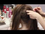 Свадебная прическа на длинные волосы. Высокий обьемный хвост.