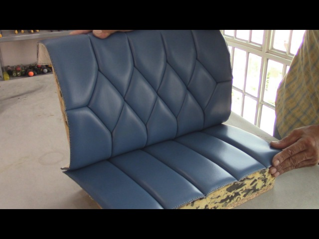 Blind Stiches on Diamond Figures Upholstery Basics