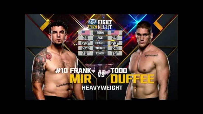 Fight Night Brisbane Free Fight Frank Mir vs Todd Duffee