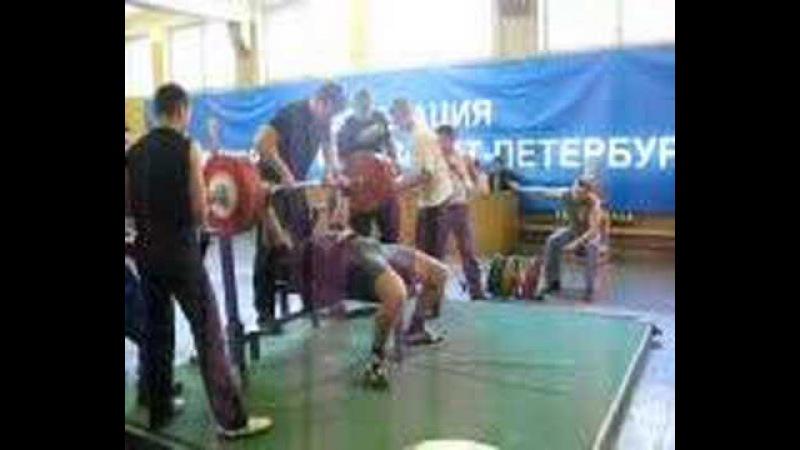 Radionov Konstantin bench press 285kg 03.05.08