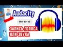 Запись голоса или звука. Программа #Audacity