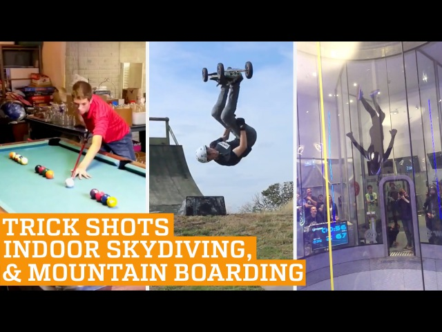 Top Three Indoor Skydiving, Mountain Boarding Snooker Trick Shots | PEOPLE ARE AWESOME