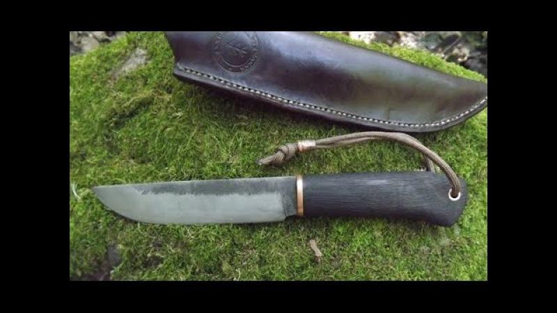 Viking knife (burning handle) /Нож Викинг (Обжиг рукояти)