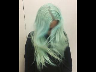 hiiii mermaid hair 🐸🐬🐢 @tasher_spencer you are the BEST @bleachlondon xxx 🤑