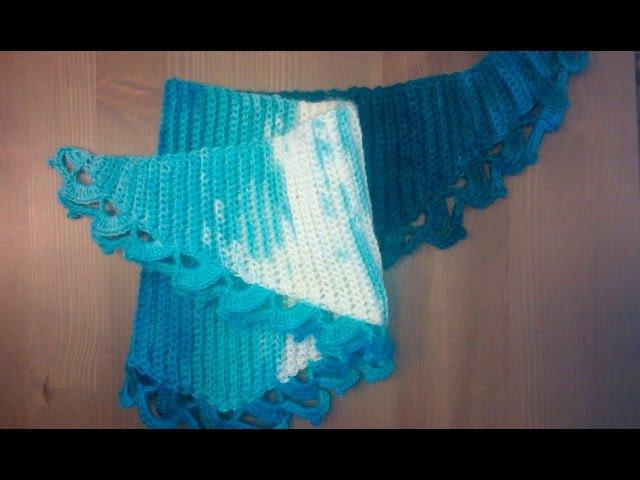 2 Вязанный крючком треугольный шарф-косынка Women triangle scarf