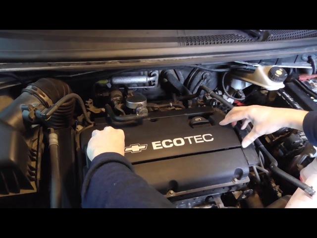 Chevrolet Aveo/Sonic T300 замена свечей зажигания.