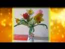 Весенний букет тюльпан,листья, часть 3