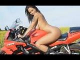 Голая девушка на мотоцикле. Naked Girl On Moto.