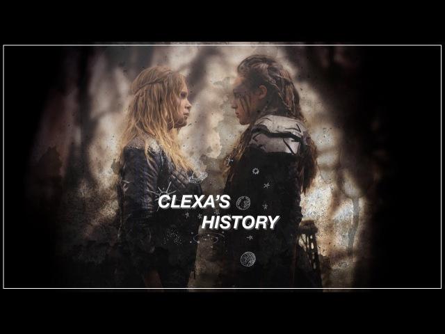 Clexa's History The 100 Clarke and Lexa