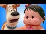 Кукла пупсик мультик лепим из плей до Тайная жизнь домашних животных дочки матери