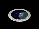 Плоская Земля - Движение Солнца и Луны над плоской землёй за сутки (24 часа) (Модель)