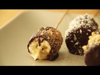 Банановые ломтики в шоколаде
