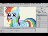 Anime Studio Pro (Moho Pro) - Как сделать анимацию персонажа Пони. Часть 2. My little Pony