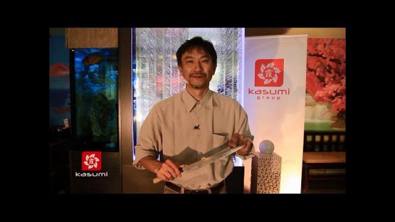 Мастер-класс по заточке ножей с Кодзи Хаттори (Koji Hattori) часть 2: заточка японских н...