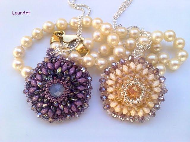 DIY TUTORIAL: ciondolo Pentalux / Pentalux pendant (Superduo/Twin beads work)