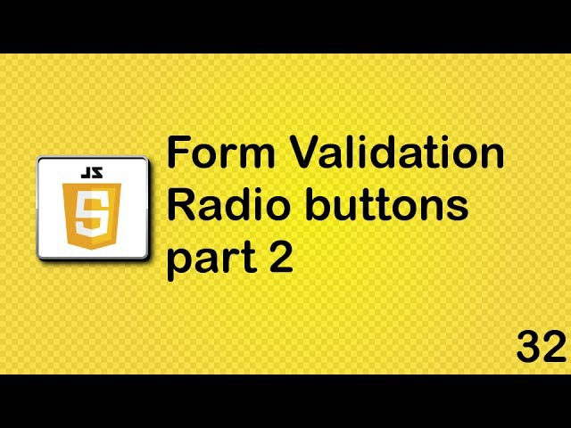 JavaScript beginner tutorial 32 - radio buttons part 2