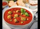 Томатный суп пюре с фрикадельками 2#