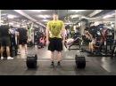 Павел Ермолаев. Становая тяга - Техника срущей собаки. Собственный вес 89 кг. Вес на штанге-интрига