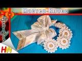 Украшение на гульку/Резинка на пучок мастер-класс/DIY/Kanzashi with beads