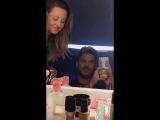 2016-07-05 Adam Lambert on Snapchat 'Getting his makeup done' (3 snaps) - Flipped