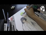 Naruto and Hinata. Naruto The Last. Speed Manga Drawing - Обучение
