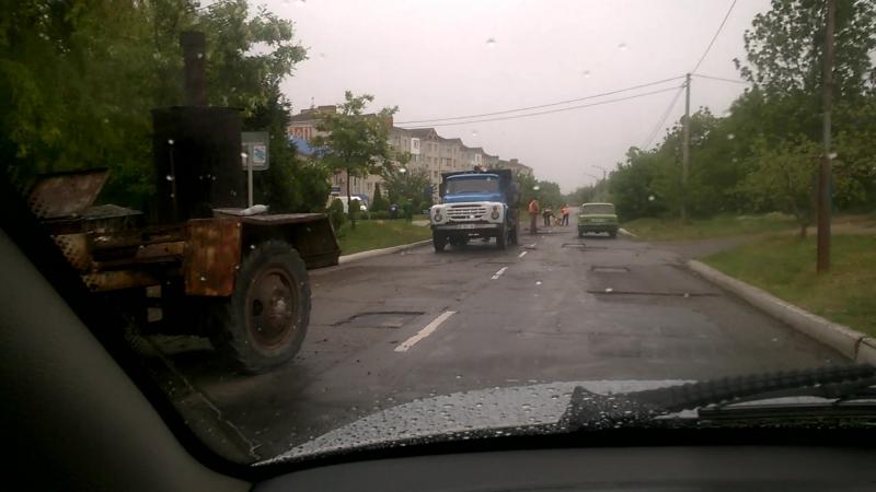 НаноасфальтЛадыжин 13.05.2016.-дождь в подмогу!!?