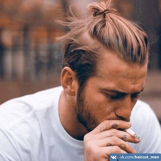 Причёска с пучком мужская