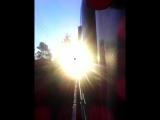 аномальное явление запечатлённое при случайных съёмках. чёрное пятно на солнце.