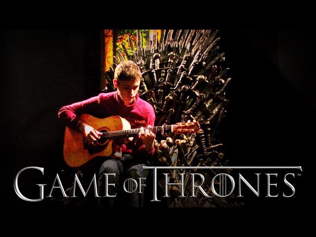 Game of Thrones Main Theme Solo Acoustic Guitar Eddie van der Meer
