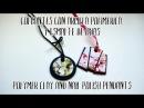 Colgantes de arcilla polimérica y esmalte de uñas Polymer clay and nail polish pendants