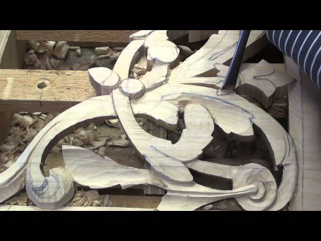 Wood carved Baroque organ ornament