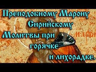 49.Преподобному Марону Сирийскому. Молитвы при горячке и лихорадке.