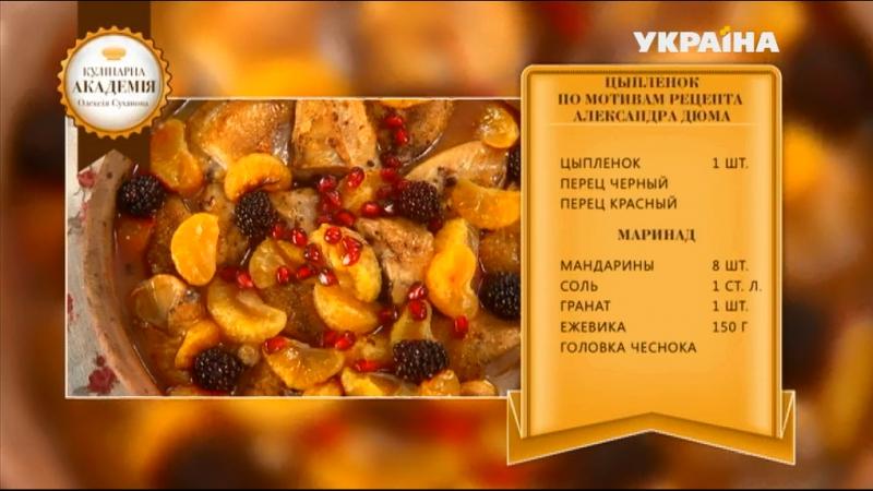 Кулінарка академія Олексія Суханова Курча за мотивами рецепту Олександра Дюма