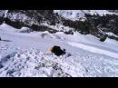 Тренировка задержания на склоне при падении напарника по связке в трещину