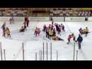 U 12 hockey mass fight Vilniaus Gelezinis vilkas vs Donbas Ukraina