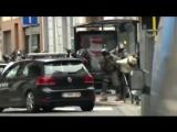 Задержание организаторов парижских терактов попало на видео