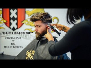 Hair + Beard - Grooming- Fade and - Style with Fracrox and Mokum Barbers