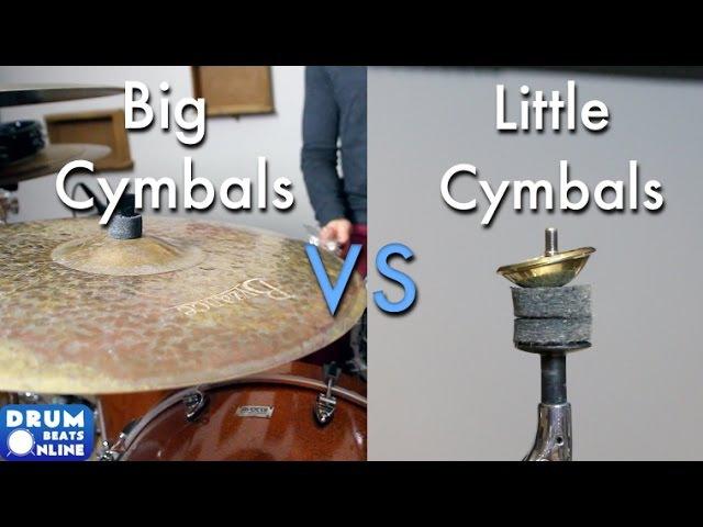 Big Cymbals vs Little Cymbals FT. rdavidr - Drum Battle!