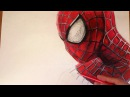 Speed Drawing of the Amazing Spider-Man|How to Draw Spiderman Marvel Superhero