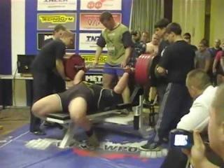 Kyrill Sarichev - Bench press 332.5kg@152kg in three-lift (20 years old!!)