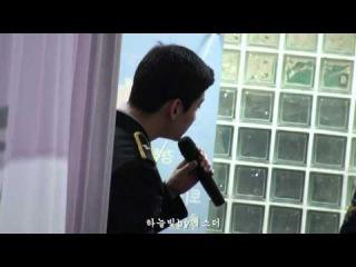 160329 동방신기 최강창민 Changmin 경찰병원환우위문음악회 백스테이지하하송연습