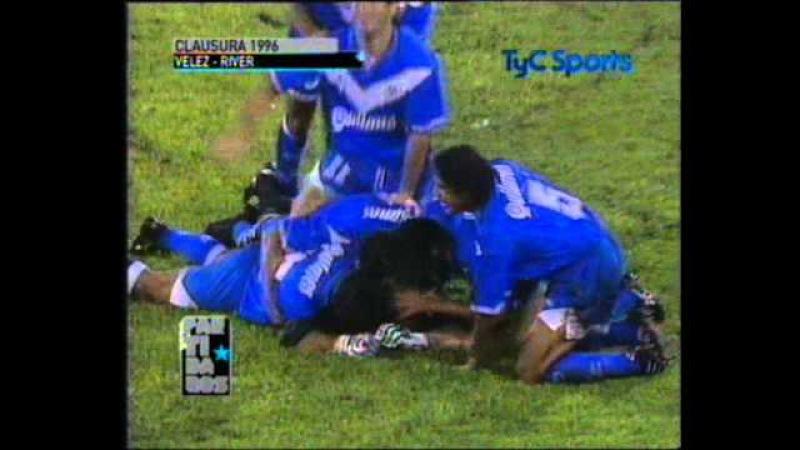 1996 CHILAVERT-Gol a Burgos (Vélez vs River)