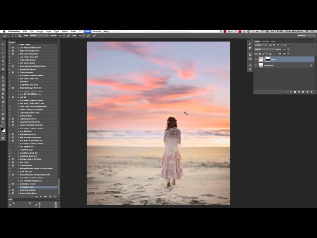 Replacing and Extending a Sunset Sky In Photoshop
