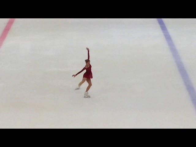 Диана Супряга, 1 этап кубка Спб, КМС АФК 2016, SP